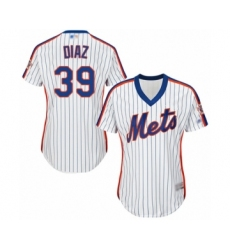 Women's New York Mets #39 Edwin Diaz Authentic White Alternate Cool Base Baseball Jersey