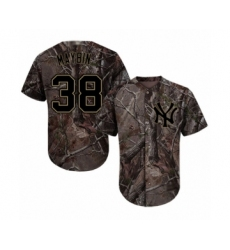 Men's New York Yankees #38 Cameron Maybin Authentic Camo Realtree Collection Flex Base Baseball Jersey