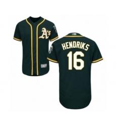 Men's Oakland Athletics #16 Liam Hendriks Green Alternate Flex Base Authentic Collection Baseball Jersey