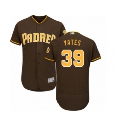 Men's San Diego Padres #39 Kirby Yates Brown Alternate Flex Base Authentic Collection Baseball Jersey