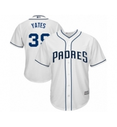 Youth San Diego Padres #39 Kirby Yates Authentic White Home Cool Base Baseball Jersey