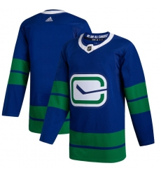 Men's Vancouver Canucks adidas Blank 2019/20 Alternate Authentic Jersey