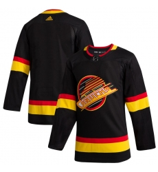 Men's Vancouver Canucks adidas Blank Black 2019/20 Flying Skate Authentic Jersey