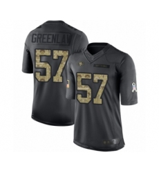 Men's San Francisco 49ers #57 Dre Greenlaw Limited Black 2016 Salute to Service Football Jersey