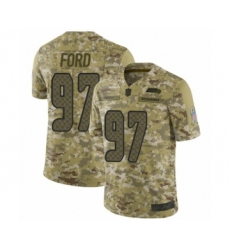 Men's Seattle Seahawks #97 Poona Ford Limited Camo 2018 Salute to Service Football Jersey