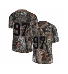 Men's Seattle Seahawks #97 Poona Ford Limited Camo Rush Realtree Football Jersey