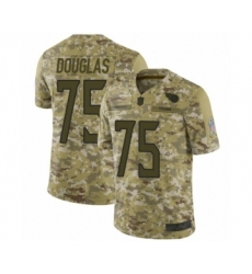 Men's Tennessee Titans #75 Jamil Douglas Limited Camo 2018 Salute to Service Football Jersey