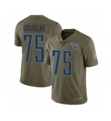 Men's Tennessee Titans #75 Jamil Douglas Limited Olive 2017 Salute to Service Football Jersey