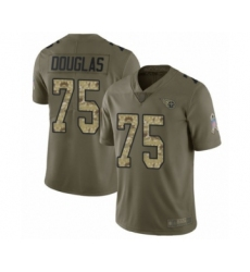 Men's Tennessee Titans #75 Jamil Douglas Limited Olive Camo 2017 Salute to Service Football Jersey