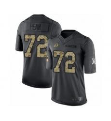 Men's Washington Redskins #72 Donald Penn Limited Black 2016 Salute to Service Football Jersey