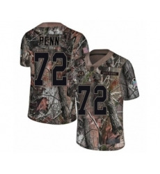 Men's Washington Redskins #72 Donald Penn Limited Camo Rush Realtree Football Jersey