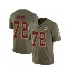 Men's Washington Redskins #72 Donald Penn Limited Olive 2017 Salute to Service Football Jersey