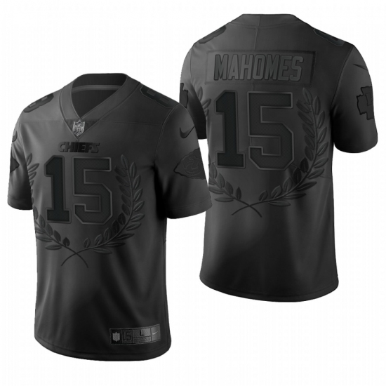 Men's Kansas City Chiefs #15 Patrick Mahomes Black Nike Souvenir Edition Limited Jersey