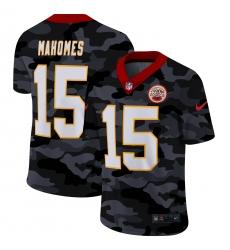 Men's Kansas City Chiefs #15 Patrick Mahomes Camo 2020 Nike Limited Jersey