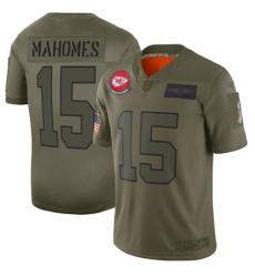 Women's Kansas City Chiefs #15 Patrick Mahomes Limited Camo 2019 Salute to Service Football Jersey