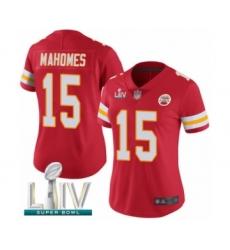 Women's Kansas City Chiefs #15 Patrick Mahomes Red Team Color Vapor Untouchable Limited Player Super Bowl LIV Bound Football Jersey