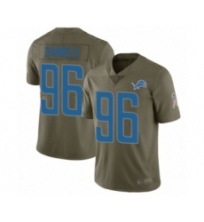 Men's Detroit Lions #96 Mike Daniels Limited Olive 2017 Salute to Service Football Jersey