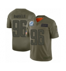Youth Detroit Lions #96 Mike Daniels Limited Camo 2019 Salute to Service Football Jersey