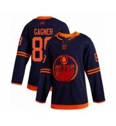 Men's Edmonton Oilers #89 Sam Gagner Authentic Navy Blue Alternate Hockey Jersey