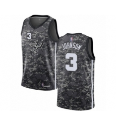 Men's San Antonio Spurs #3 Keldon Johnson Authentic Camo Basketball Jersey - City Edition
