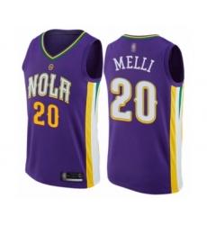 Men's New Orleans Pelicans #20 Nicolo Melli Authentic Purple Basketball Jersey - City Edition