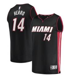 Men's Miami Heat #14 Tyler Herro Fanatics Branded Black 2020-21 Fast Break Replica Jersey