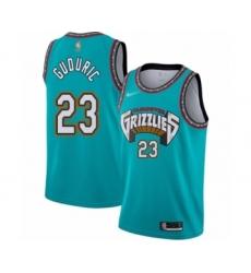 Men's Memphis Grizzlies #23 Marko Guduric Authentic Green Hardwood Classic Basketball Jersey