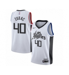 Youth Los Angeles Clippers #40 Ivica Zubac Swingman White Basketball Jersey - 2019 20 City Edition