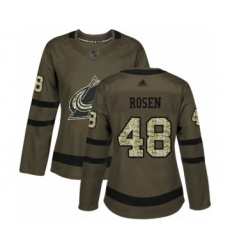 Women's Colorado Avalanche #48 Calle Rosen Authentic Green Salute to Service Hockey Jersey