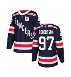 Men's New York Rangers #97 Matthew Robertson Authentic Navy Blue 2018 Winter Classic Hockey Jersey