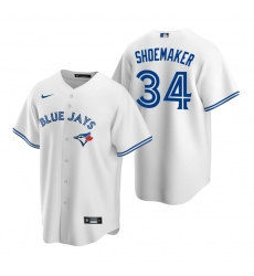 Men's Nike Toronto Blue Jays #34 Matt Shoemaker White Home Stitched Baseball Jersey