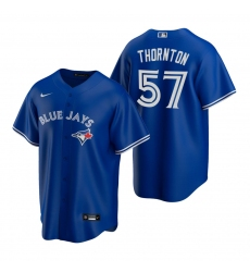 Men's Nike Toronto Blue Jays #57 Trent Thornton Royal Alternate Stitched Baseball Jersey