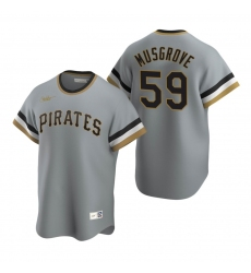 Men's Nike Pittsburgh Pirates #59 Joe Musgrove Gray Cooperstown Collection Road Stitched Baseball Jersey