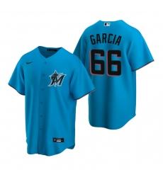 Men's Nike Miami Marlins #66 Jarlin Garcia Blue Alternate Stitched Baseball Jersey