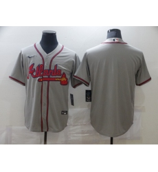 Men's Nike Atlanta Braves Blank Gray Jersey