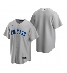 Men's Nike Chicago Cubs Blank Gray Road Stitched Baseball Jersey