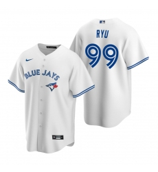 Men's Nike Toronto Blue Jays #99 Hyun-Jin Ryu White Home Stitched Baseball Jersey