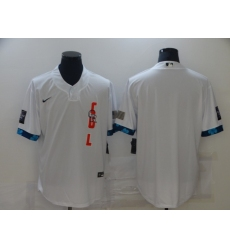 Men's Colorado Rockies Blank Nike White 2021 All-Star Game Replica Jersey