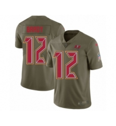 Men's Tampa Bay Buccaneers #12 Tom Brady Limited Olive 2017 Salute to Service Football Jersey