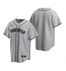 Men's Nike Houston Astros Blank Gray Road Stitched Baseball Jersey
