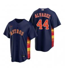 Men's Nike Houston Astros #44 Yordan Alvarez Navy Alternate Stitched Baseball Jersey