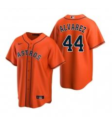 Men's Nike Houston Astros #44 Yordan Alvarez Orange Alternate Stitched Baseball Jersey