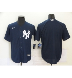 Men's Nike New York Yankees Blank Navy Blue Alternate Stitched Baseball Jersey