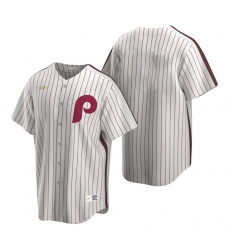Men's Nike Philadelphia Phillies Blank White Cooperstown Collection Home Stitched Baseball Jersey