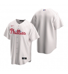 Men's Nike Philadelphia Phillies Blank White Home Stitched Baseball Jersey