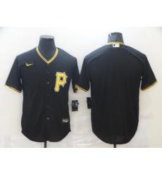 Men's Nike Pittsburgh Pirates Blank Black Jersey