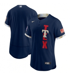 Men's Texas Rangers Blank Nike Navy 2021 MLB All-Star Game Authentic Jersey