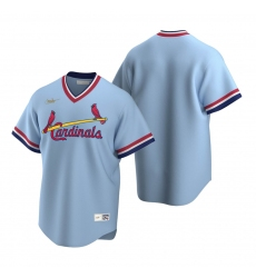 Men's Nike St. Louis Cardinals Blank Light Blue Cooperstown Collection Road Stitched Baseball Jersey