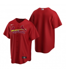 Men's Nike St. Louis Cardinals Blank Red Alternate Stitched Baseball Jersey