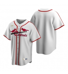 Men's Nike St. Louis Cardinals Blank White Cooperstown Collection Home Stitched Baseball Jersey